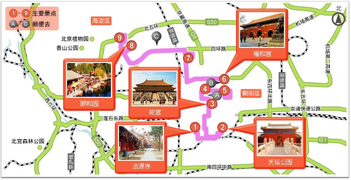 颐和园景区地图